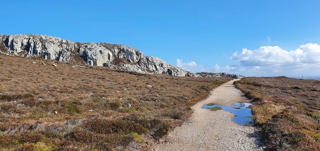 The craggy face of Holyhead Mountain
